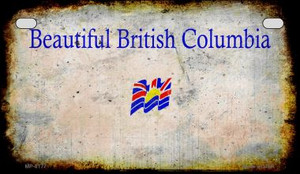British Columbia Rusty Blank Background Wholesale Novelty Motorcycle Plate MP-8177