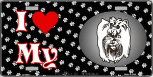 I Love My Yorkshire Terrier Wholesale Metal Novelty License Plate LP-3934