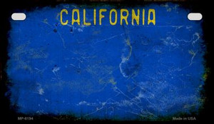 California Blue Rusty Blank Background Wholesale Novelty Motorcycle Plate MP-8194