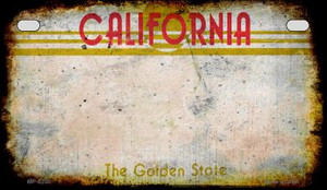 California Rusty Blank Background Wholesale Novelty Motorcycle Plate MP-8200