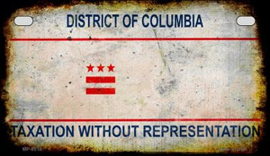 District of Columbia Rusty Blank Background Wholesale Novelty Motorcycle Plate MP-8518