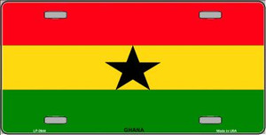 Ghana Flag Wholesale Metal Novelty License Plate LP-3944