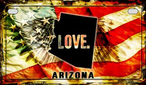 Arizona Love & Wings Wholesale Novelty Motorcycle Plate MP-8589