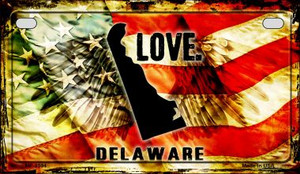 Delaware Love & Wings Wholesale Novelty Motorcycle Plate MP-8594