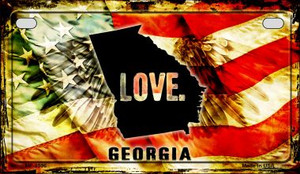 Georgia Love & Wings Wholesale Novelty Motorcycle Plate MP-8596