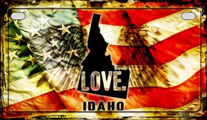 Idaho Love & Wings Wholesale Novelty Motorcycle Plate MP-8598
