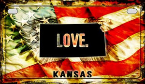 Kansas Love & Wings Wholesale Novelty Motorcycle Plate MP-8602