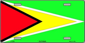 Guyana Flag Wholesale Metal Novelty License Plate LP-3948