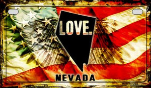 Nevada Love & Wings Wholesale Novelty Motorcycle Plate MP-8614