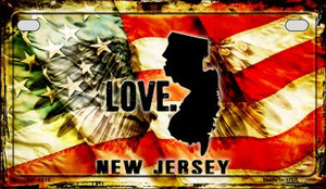 New Jersey Love & Wings Wholesale Novelty Motorcycle Plate MP-8616