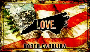 North Carolina Love & Wings Wholesale Novelty Motorcycle Plate MP-8619