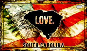 South Carolina Love & Wings Wholesale Novelty Motorcycle Plate MP-8626