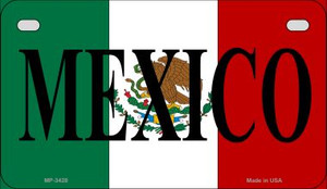 Mexico Flag Wholesale Novelty Motorcycle Plate MP-3428