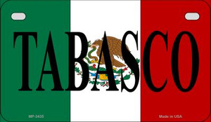 Tabasco Mexico Flag Wholesale Novelty Motorcycle Plate MP-3435