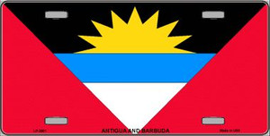 Antigua & Barbuda Flag Wholesale Metal Novelty License Plate LP-3961
