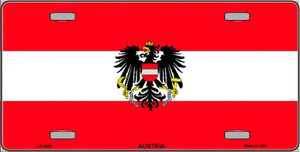Austria Flag Wholesale Metal Novelty License Plate LP-3965