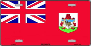 Bermuda Flag Wholesale Metal Novelty License Plate LP-3973