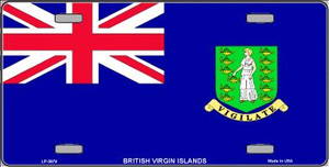 British Virgin Islands Flag Wholesale Metal Novelty License Plate LP-3979