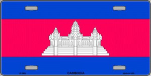 Cambodia Flag Wholesale Metal Novelty License Plate LP-3984