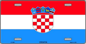 Croatia Flag Wholesale Metal Novelty License Plate LP-4001