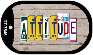 Attitude Plate Art Wholesale Dog Tag Necklace DT-7846