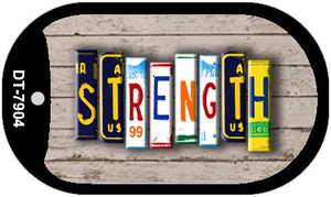 Strength Plate Art Wholesale Dog Tag Necklace DT-7904