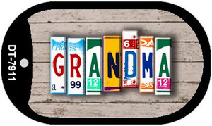 Grandma Plate Art Wholesale Dog Tag Necklace DT-7911