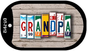 Grandpa Plate Art Wholesale Dog Tag Necklace DT-7912