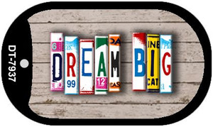 Dream Big Plate Art Wholesale Dog Tag Necklace DT-7937