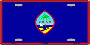 Guam Flag Wholesale Metal Novelty License Plate LP-4022