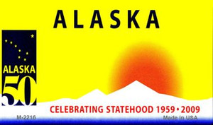 Alaska Blank Background Wholesale Aluminum Magnet M-2216