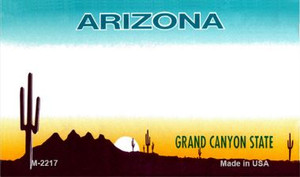 Arizona Blank Background Wholesale Aluminum Magnet M-2217