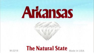 Arkansas Blank Background Wholesale Aluminum Magnet M-2218