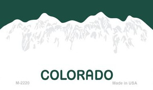 Colorado Blank Background Wholesale Aluminum Magnet M-2220