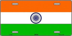 India Flag Wholesale Metal Novelty License Plate LP-4032