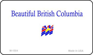 British Columbia Blank Background Wholesale Aluminum Magnet M-1504