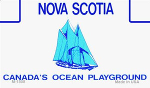 Nova Scotia Blank Background Wholesale Aluminum Magnet M-1508