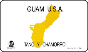Guam Blank Background Wholesale Aluminum Magnet M-1472
