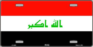 Iraq Flag Wholesale Metal Novelty License Plate LP-4035