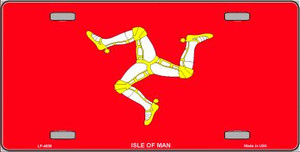 Isle Of Man Flag Wholesale Metal Novelty License Plate LP-4036