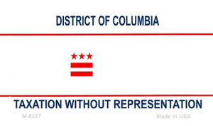 District of Columbia Blank Background Wholesale Aluminum Magnet M-8227