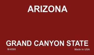 Arizona Red Blank Background Wholesale Aluminum Magnet M-8580