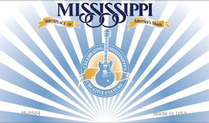 Mississippi Blank Background Wholesale Aluminum Magnet M-9504