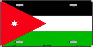 Jordan Flag Wholesale Metal Novelty License Plate LP-4039