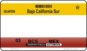 Baja California Sur Blank Background Wholesale Aluminum Magnet M-4814