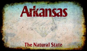 Arkansas Rusty Blank Background Wholesale Aluminum Magnet M-8120