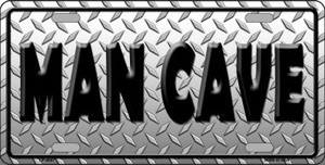 Man Cave Wholesale Metal Novelty License Plate