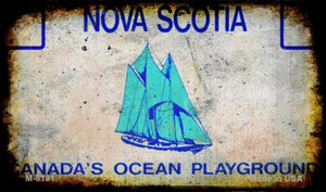 Nova Scotia Rusty Blank Background Wholesale Aluminum Magnet M-8181