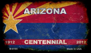 Arizona Centennial Rusty Blank Background Wholesale Aluminum Magnet M-8190