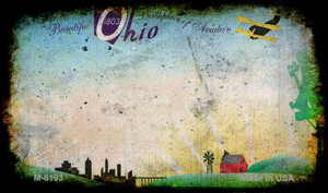 Ohio Rusty Blank Background Wholesale Aluminum Magnet M-8193